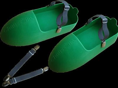 Chauss' & Clip PRO la paire pour marcher plus facilement acec les surchaussures Chauss'in