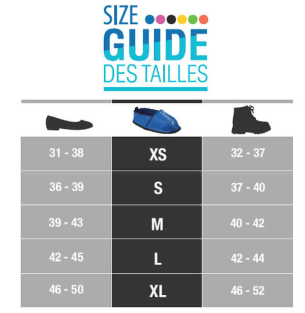 Guide des tailles Chauss'in originale