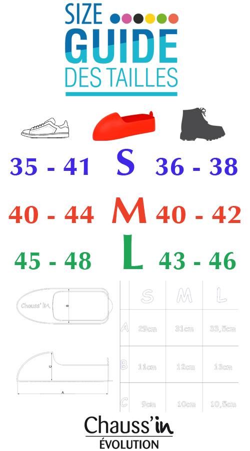 Surchaussure Chauss'in évolution guide des tailles